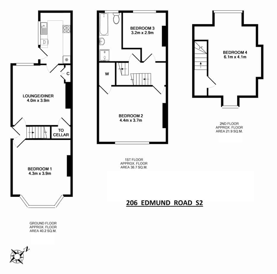 206 Edmund Road Floor Plan