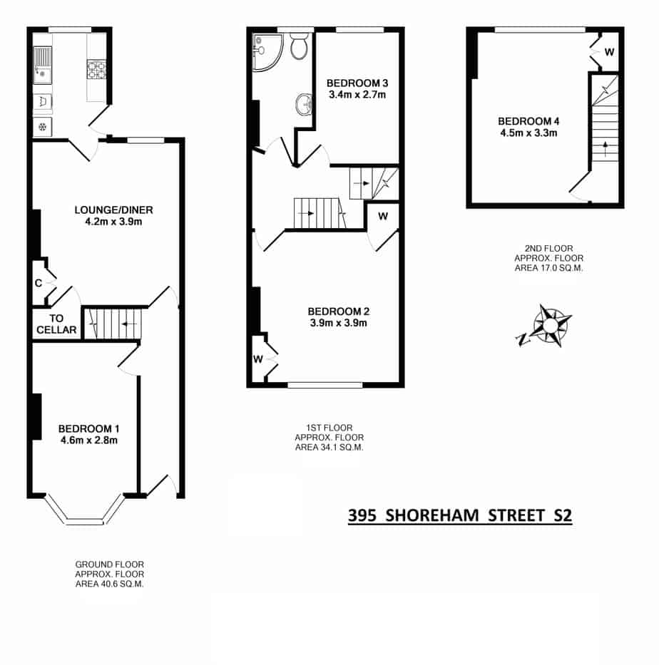 395 Shoreham Street Floorplan