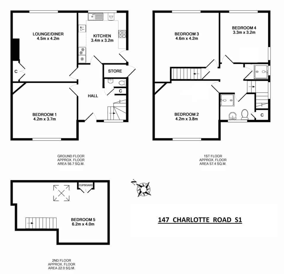 147 Charlotte Road Floor Plans
