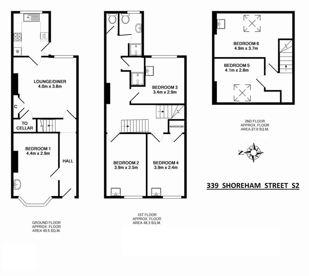 339 Shoreham Street Floorplan