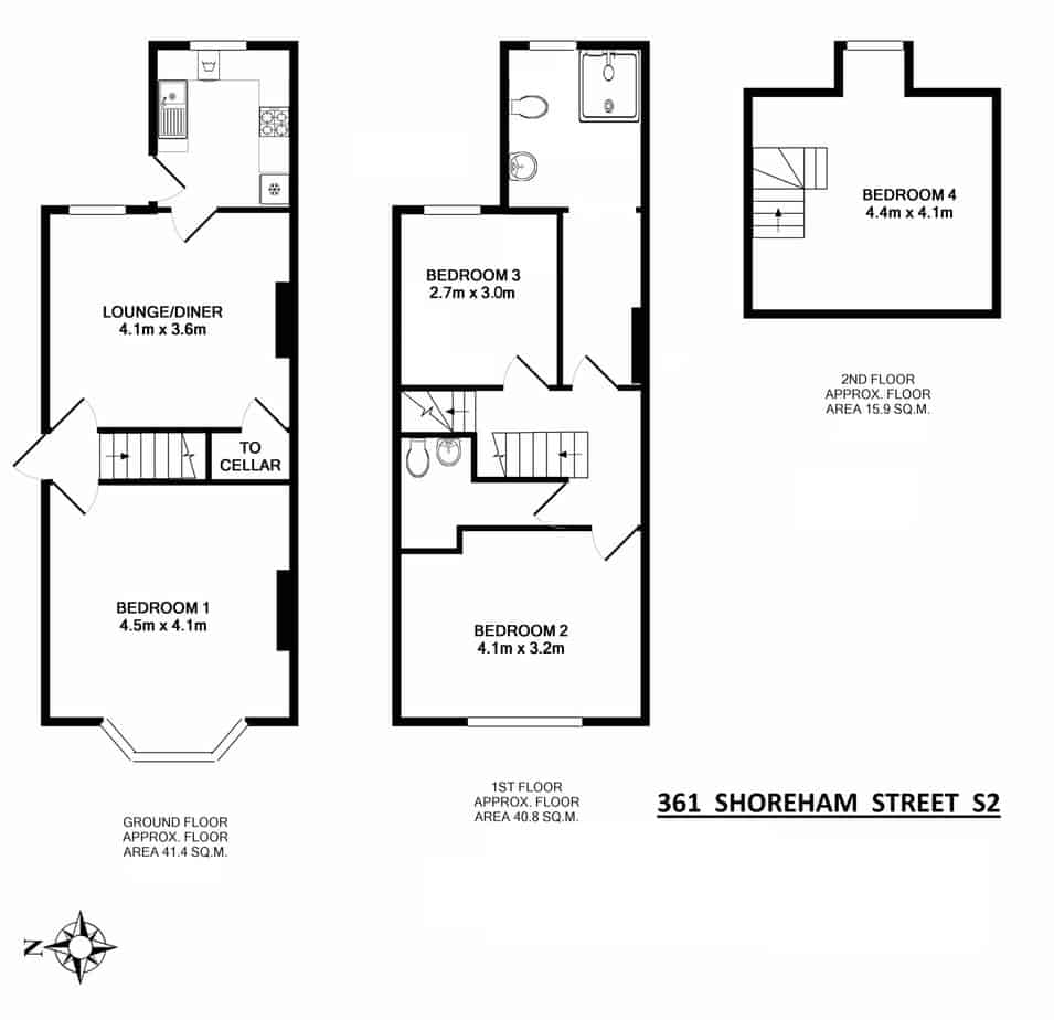 361 Shoreham Street Floorplan