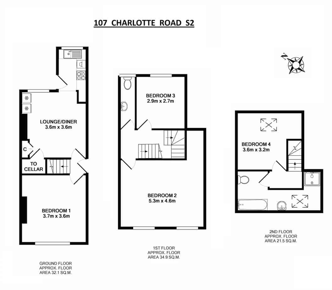 107 Charlotte Road Floor Plan