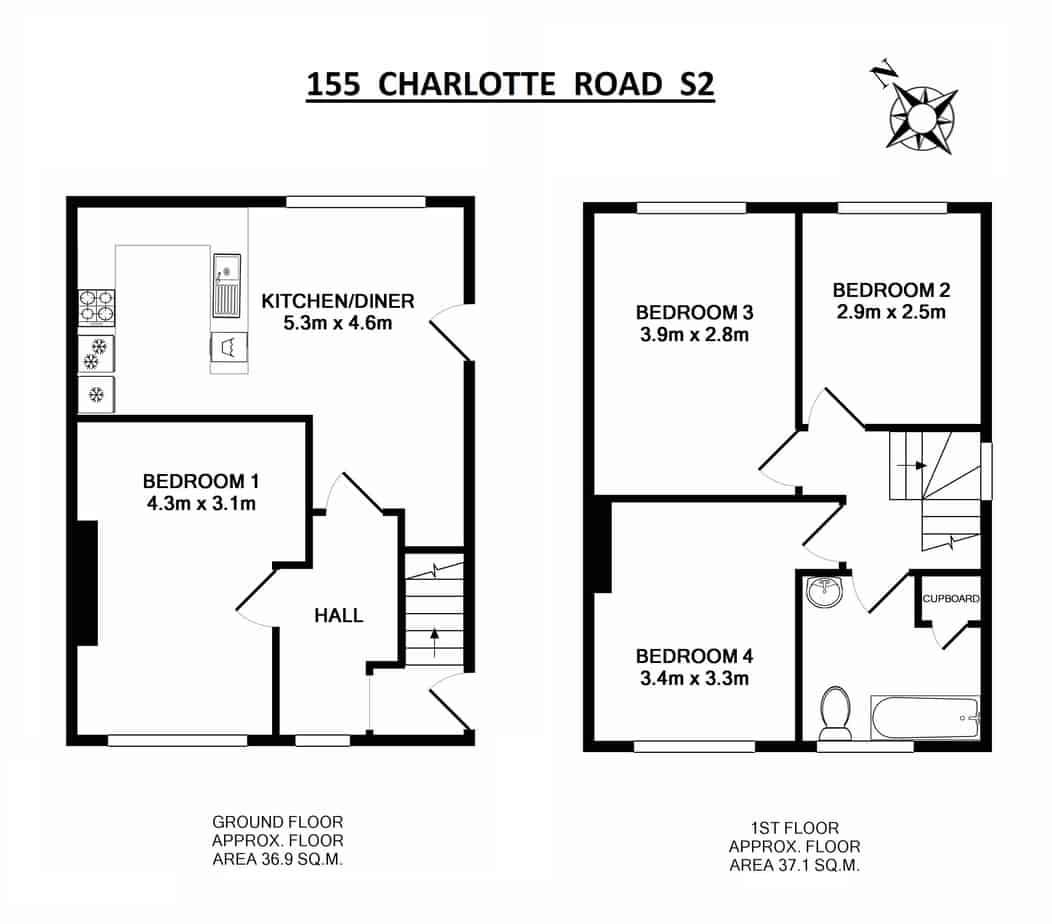 155 Charlotte Road Floor Plan